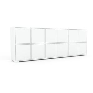 Sideboard Weiß - Designer-Sideboard: Türen in Weiß - Hochwertige Materialien - 229 x 81 x 35 cm, Individuell konfigurierbar