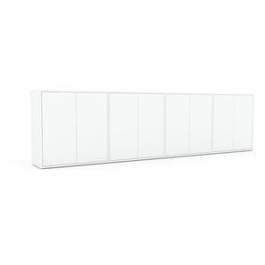 Sideboard Weiß - Designer-Sideboard: Türen in Weiß - Hochwertige Materialien - 301 x 80 x 35 cm, Individuell konfigurierbar