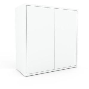 Sideboard Weiß - Designer-Sideboard: Türen in Weiß - Hochwertige Materialien - 77 x 80 x 35 cm, Individuell konfigurierbar