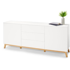 Sideboard - weiß - Holz -