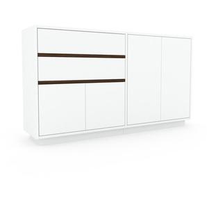 Sideboard Weiß - Sideboard: Schubladen in Weiß & Türen in Weiß - Hochwertige Materialien - 152 x 85 x 35 cm, konfigurierbar