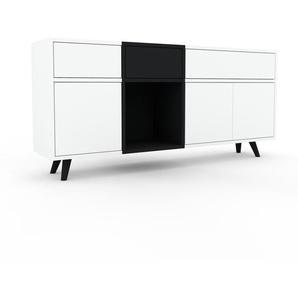 Sideboard Weiß - Sideboard: Schubladen in Weiß & Türen in Weiß - Hochwertige Materialien - 154 x 72 x 35 cm, konfigurierbar