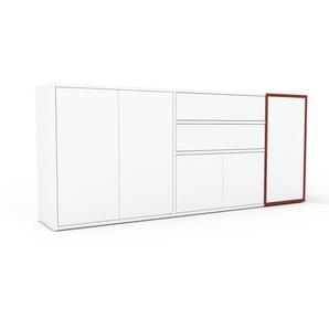 Sideboard Weiß - Sideboard: Schubladen in Weiß & Türen in Weiß - Hochwertige Materialien - 190 x 80 x 35 cm, konfigurierbar