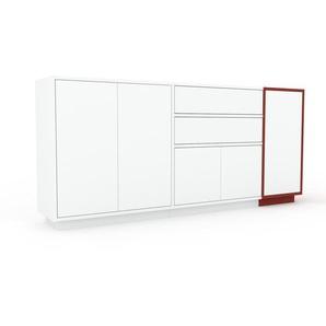 Sideboard Weiß - Sideboard: Schubladen in Weiß & Türen in Weiß - Hochwertige Materialien - 190 x 85 x 35 cm, konfigurierbar
