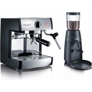 Siebträgermaschine Espressomaschine pivalla SET, schwarz, Graef