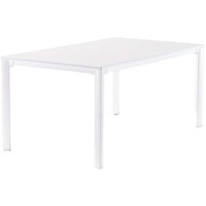 Sieger Gartentisch 165x95cm Aluminium Weiß/Mamor Weiß