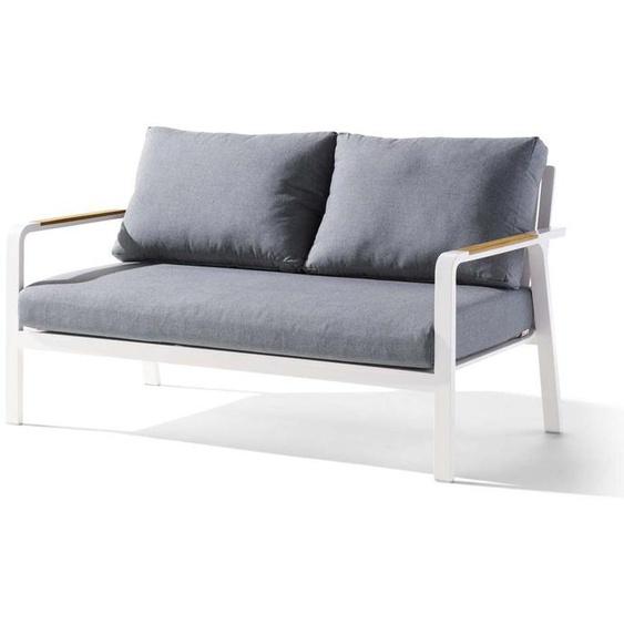 Sieger Nassau Lounge 2-Sitzer Sofa Weiß/Grau