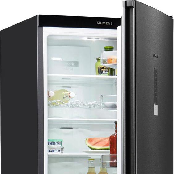 SIEMENS Kühl-/Gefrierkombination KG39NXXDA D (A bis G) Rechtsanschlag schwarz Kühlschränke SOFORT LIEFERBARE Haushaltsgeräte