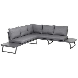 Siena Garden Larina Loungeecke 2tlg Aluminium/Polyester Graphit/Schiefergrau