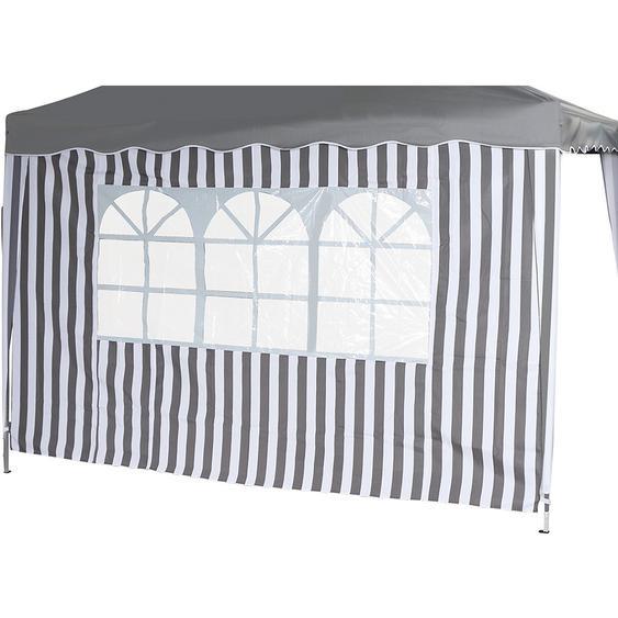 Siena Garden Seitenteile Faltpavillon Grau-Weiß 191 cm x 294 cm