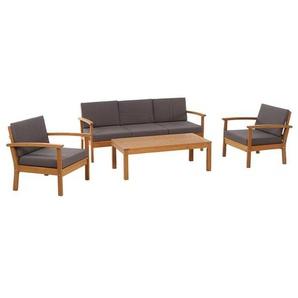 Siena Garden Tavira Lounge 4tlg Eukalyptus/Polyester Natur/Anthrazit