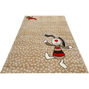 Sigikid Kinderteppich Rainbow Rabbit, rechteckig, 13 mm Höhe B/L: 133 cm x 200 cm, 1 St. beige Kinder Kinderteppiche mit Motiv Teppiche