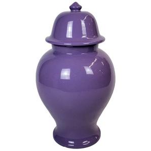 Signature Home Collection Dekovase »Keramikvase mit Deckel Tempelvase aus Keramik« (1 Stück, 1 Keramikvase mit Deckel), Handgefertigte Keramik aus Italien