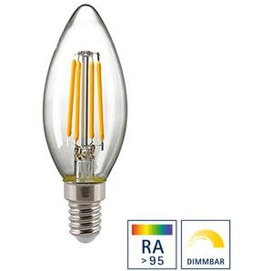 Sigor LED Filament Kerze E14 klar, 5 W, Ra95, 2700 K, dimmbar