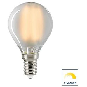 Sigor LED Filament Kugellampe E14 matt, 2,5 W, 2700 K, dimmbar, 1. Generation