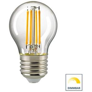 Sigor LED Filament Kugellampe E27 klar, 4,5 W, 2700 K, dimmbar