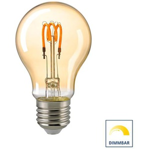 Sigor LED Filament Normallampe Curved E27 Gold, 2,5 W, 2000 K, dimmbar