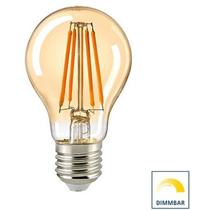 Sigor LED Filament Normallampe E27 Gold, 4,5 W, 2400 K, dimmbar