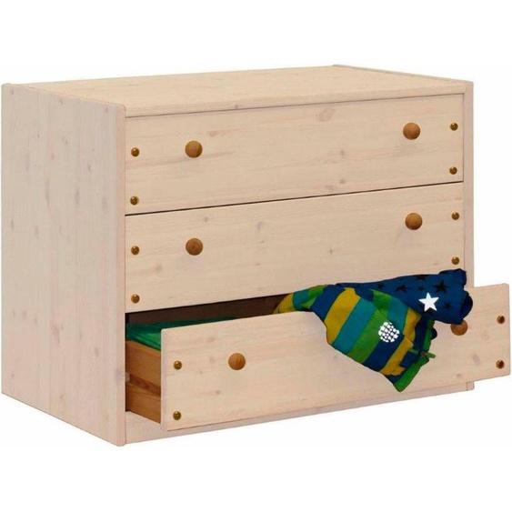 Silenta Kommode 89x51x67 cm, 3 Schubladen weiß Kinder Kinderkommoden Kindermöbel Sideboards