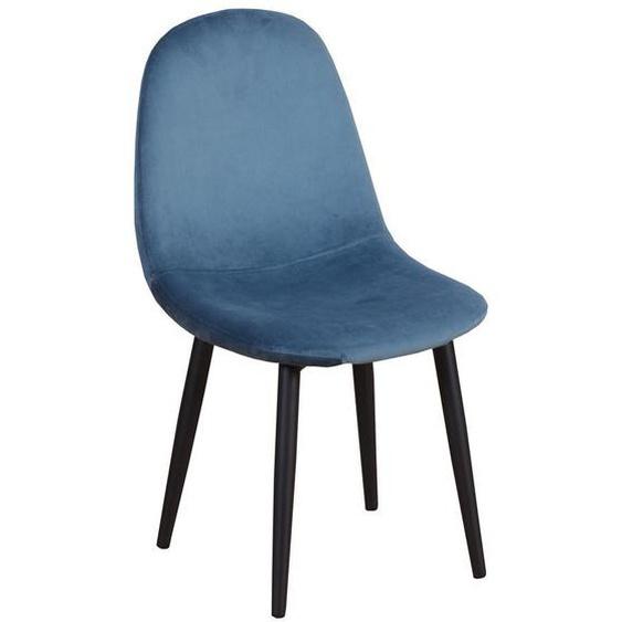Silke - Kinderstuhl, Samt, Blau