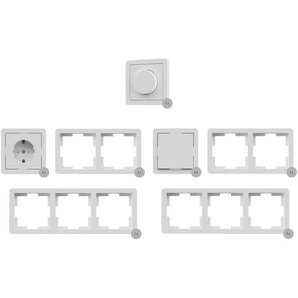 SILVERCREST® Steckdosen-Set / Wechselschalter-Set / Dimmer