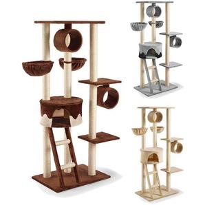 SILVIO design Kratzbaum »Merlin«, mit Höhle, Spielrollen, Liegemulden und Liegeplatten