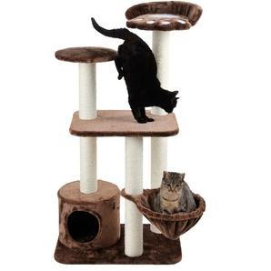 SILVIO design Kratzbaum Molly, hoch, BxTxH: 40x60x116 cm B/H/T: 40 x 116 60 braun Kratz- Kletterbäume Katze Tierbedarf