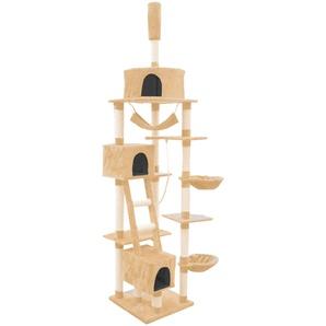 SILVIO design Kratzbaum Rocky, hoch, BxTxH: 70x50x230-250 cm B/T: 70 x 50 beige Kratz- Kletterbäume Katze Tierbedarf
