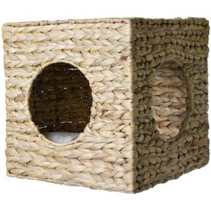 SILVIO design Schlafhöhle Ferdi, BxTxH: 33x33x33 cm B/H/T: 33 x beige Katzenkörbe -kissen Katze Tierbedarf