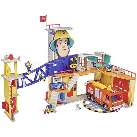 Simba Feuerwehrstation , Mehrfarbig , Kunststoff , 65x44.50x14 cm