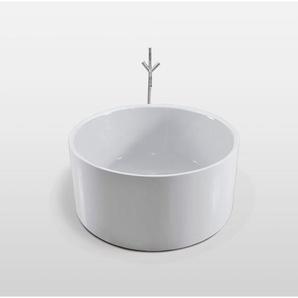 Freistehende Badewanne Modernes Design Durchmesser 134cm Crystal+wasserhahn - SIMBA