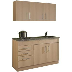 Single-Küche 120 TERAMO-03 Buche Dekor B x H x T ca. 120 x 200 x 60cm