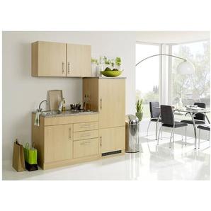 Single-Küche 160 TERAMO-03 Buche Dekor B x H x T ca. 160 x 200 x 60cm