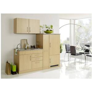 Single-Küche mit Kühlschrank TERAMO-03 Buche Dekor B x H x T ca. 190 x 200 x 60cm
