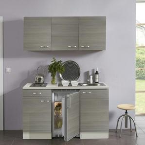 Singleküche mit Elektrogeräten  Verona   grau   150 cm  