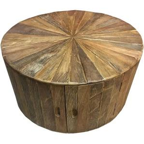 SIT Runder Couchtisch »Romanteaka« recyceltes Teakholz, mit Türen