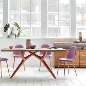 SIT Esstisch »Tables«, mit elegantem Metallgestell, Shabby Chic, Vintage