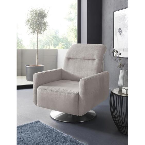 sit&more Drehsessel Luxus-Microfaser ALTARA NUBUCK®, mit Kopfteilverstellung beige Sessel