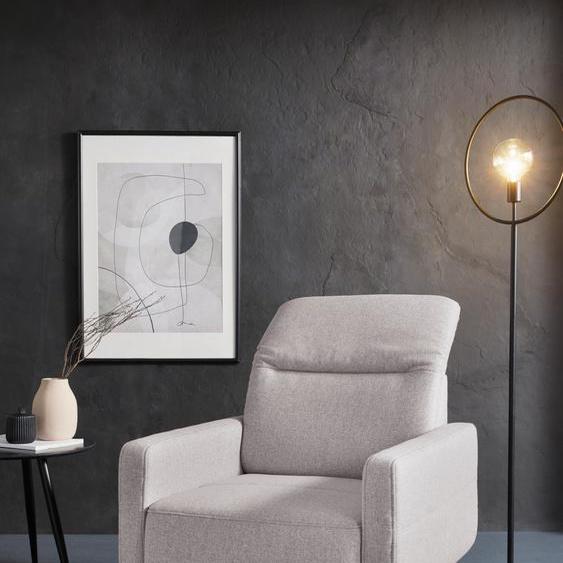 sit&more Drehsessel Webstoff, mit Kopfteilverstellung rosa Sessel