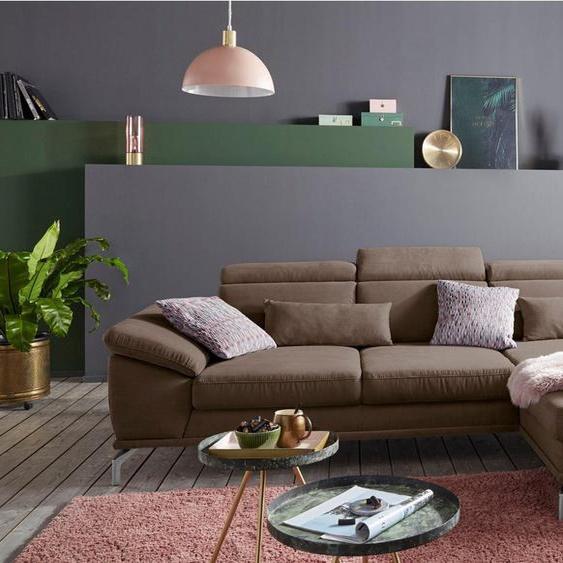 sit&more Ecksofa, inklusive Sitztiefenverstellung, wahlweise mit Kopf- und Armteilverstellung