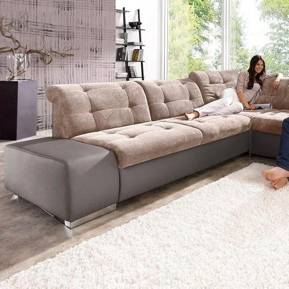 sit&more Ecksofa, mit Bettfunktion, FSC®-zertifiziert, braun, Material Holzwerkstoff, mit Schlaffunktion