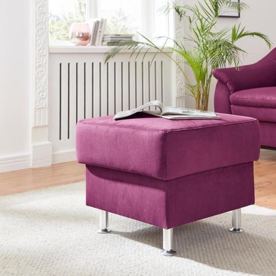 sit&more Hocker Luxus-Microfaser ALTARA NUBUCK®, mit Stauraum lila Polsterhocker Nachhaltige Möbel