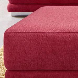 sit&more Polsterhocker 0, Struktur fein rot Hocker Nachhaltige Möbel