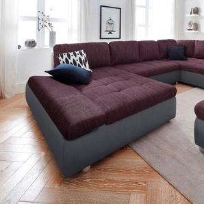 sit&more Wohnlandschaft »Fabona« grau, Recamiere XL, rechts oder links montierbar, Keine Funktion, FSC®-zertifiziert