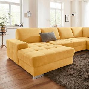 sit&more Wohnlandschaft, mit Federkern und Sitztiefenverstellung, wahlweise mit Bettfunktion und Bettkasten