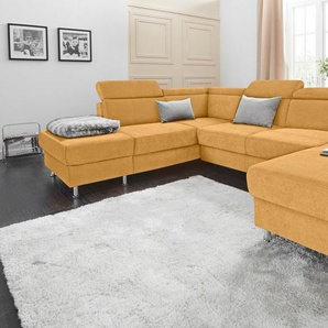 sit&more Wohnlandschaft, wahlweise mit Bettfunktion und Stauraum, inklusive Kopfteilverstellung, frei im Raum stellbar