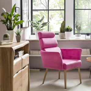 SIT Sessel »Sit&Chairs«, Samtbezug in bunten Farben