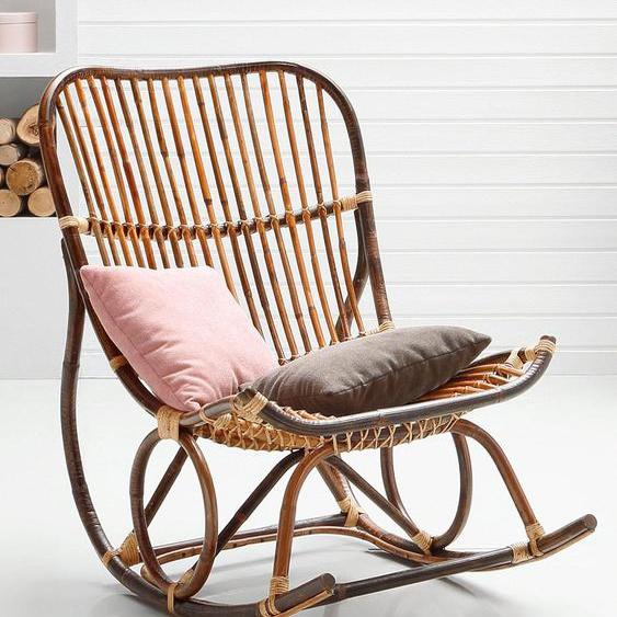 SIT Schaukelstuhl Vintage Einheitsgröße braun Rattanstühle Stühle Sitzbänke