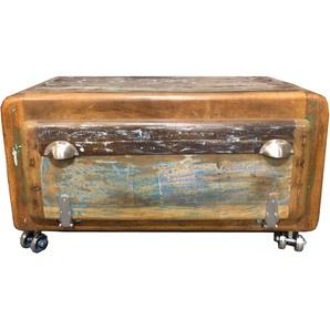 SIT Schuhschrank Fridge, aus recyceltem Altholz, Shabby Chic, Vintage B/H/T: 85 cm x 45 40 bunt Schuhschränke Garderoben Nachhaltige Möbel