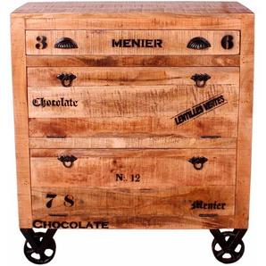 SIT Schuhschrank Rustic, im Factory Design, Breite 82 cm, Shabby Chic, Vintage B/H/T: 85 cm x 90 40 beige Schuhschränke Garderoben Nachhaltige Möbel